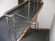 Geländer, innen aus Edelstahl